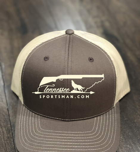 Our brown trucher hat with tan accents and embroidery.