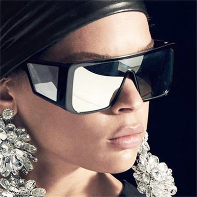 Oversized Goggle Mirror Sunglasses
