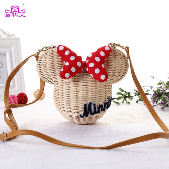 Minnie Mouse Handmade Rattan Bag