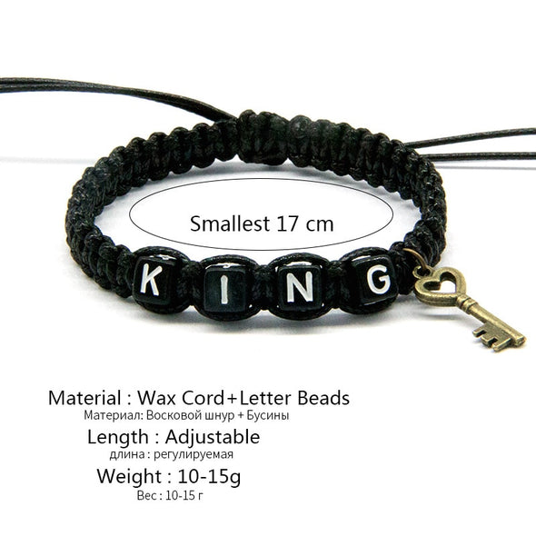 King and Queen Couple Bracelet