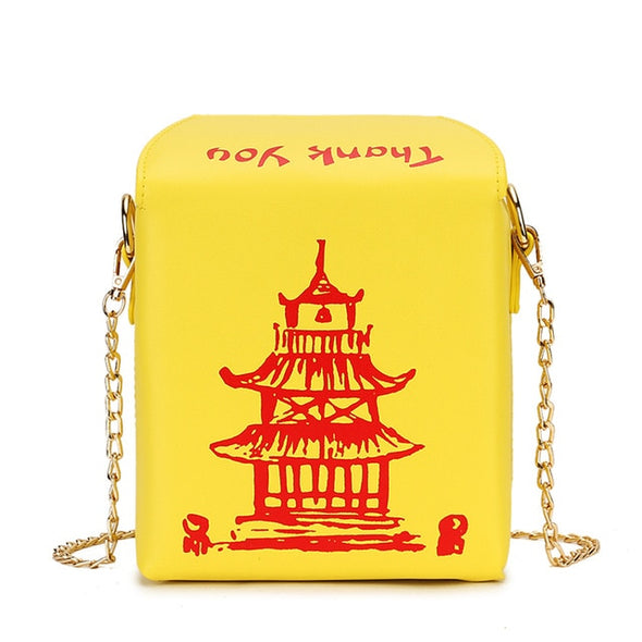 Chinese Food Box Crossbody purse