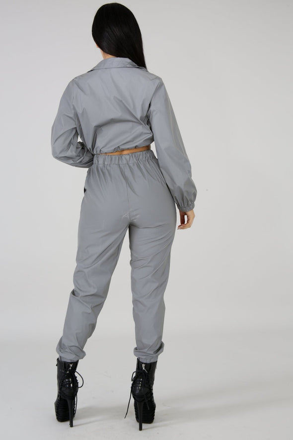 Reflective Tracksuit Two Piece Set