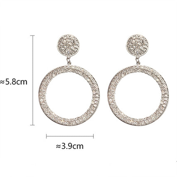 Shining Circle Drop Earrings