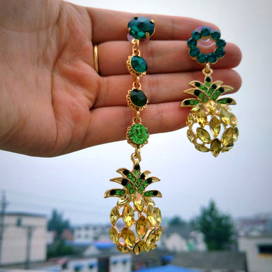 Crystal Fruits Drop Dangle Earrings
