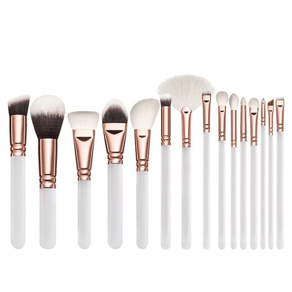 Makeup Pro Vegan Brushes Set 15pcs
