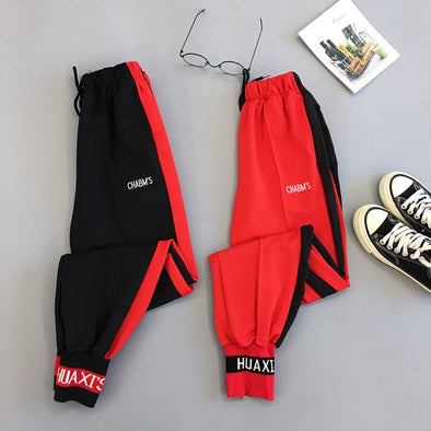 Red Black Cargo Pants