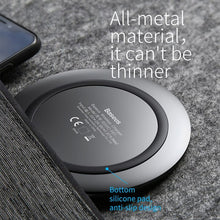 Load image into Gallery viewer, Baseus Metal Fast Wireless Charger