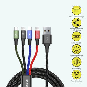 Baseus 4-in-1 Charge/Sync Cable