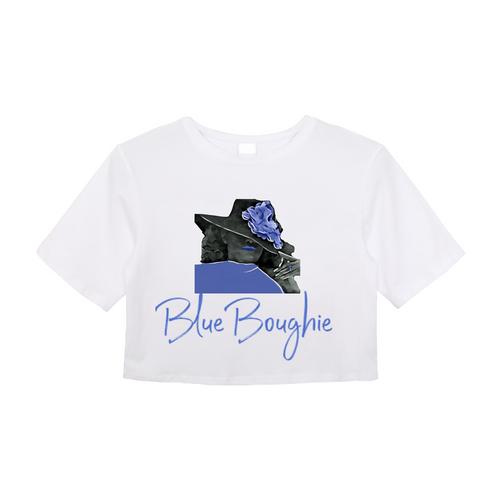 Blue Boughie Signature Women's Crop Top
