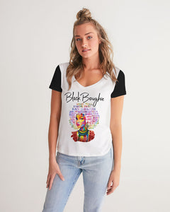 Black Boughie Women's V-Neck Tee