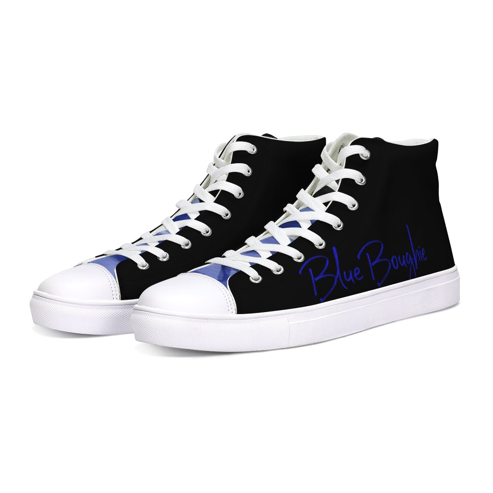 Blue Boughie Special  Edition Unisex Hightop Canvas Shoe