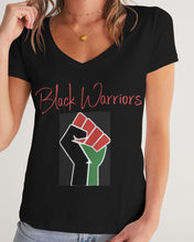 Load image into Gallery viewer, Black Boughie Black Warrior Tee for women