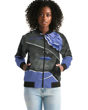 Load image into Gallery viewer, Blue Boughie Signature Women's Bomber Jacket