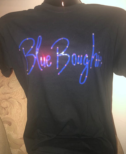 Blue Boughie Signature  Black Tee and Tank-Bling Collection