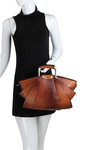 Stylish Fan Satchel Hand Bag and matching Wallet