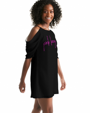 Load image into Gallery viewer, Pink boughie Signature Women's Open Shoulder A-Line Dress