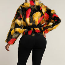 Load image into Gallery viewer, Multi Color Fur Jacket