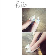 Load image into Gallery viewer, Crystal Rhinestone Wedding shoes