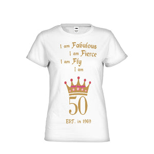 Pink Boughie 50, fab, Fly and Fierce Tee Women's Tee