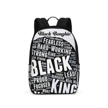 Load image into Gallery viewer, Black Boughie Black King Large Backpack