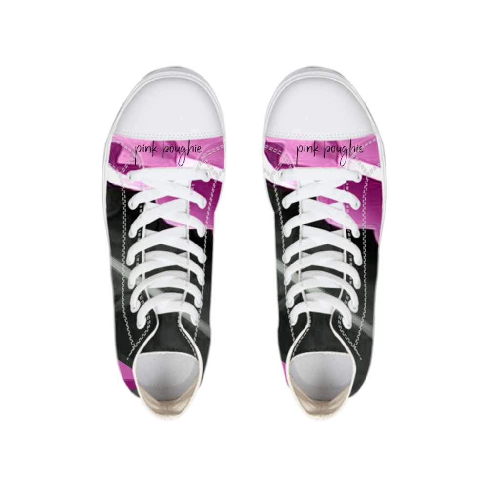 Pink Boughie Signature Clothing Hightop Canvas Shoe