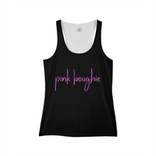 Load image into Gallery viewer, Pink Boughie Signature Cursive Tank Black Women's Tank