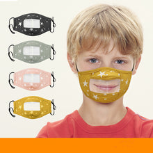 Load image into Gallery viewer, Cotton Face Mask with Anti Fog Clear Window Face Covering For Child