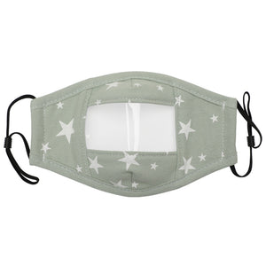 Cotton Face Mask with Anti Fog Clear Window Face Covering For Child