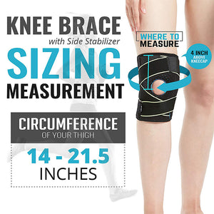 Knee Brace with Side Stabilizers & Patella Gel Pads For Men & Women
