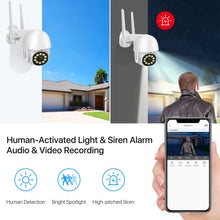 Load image into Gallery viewer, WiFi Outdoor PTZ Home Surveillance Camera