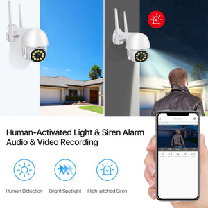 WiFi Outdoor PTZ Home Surveillance Camera