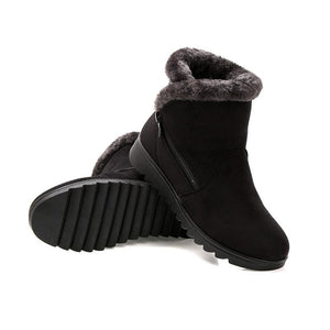 Dropshipping Casual shoes woman winter ankle boots women shoes 2021 new fashion non-slip warm plush zipper women snow boots