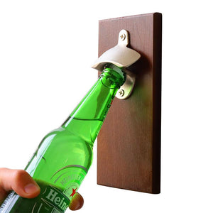 Wall Mounted Magnetic Bottle Opener