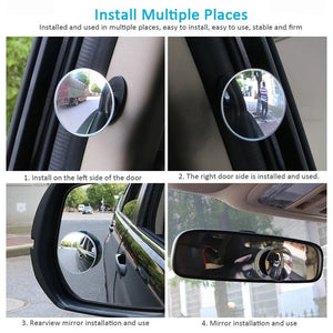 Full View Blind Spot Rearview Mirors (2pcs)
