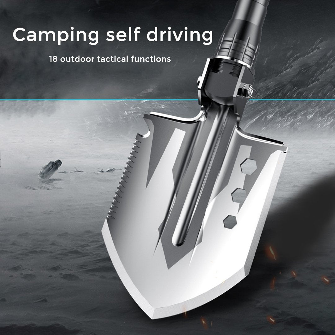 Outdoor Folding Multifunctional Engineering Shovel