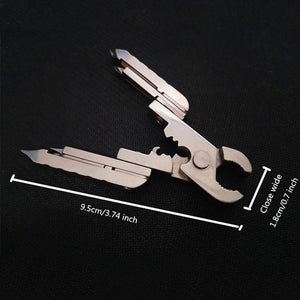 15-in-1 EDC stainless steel multitool