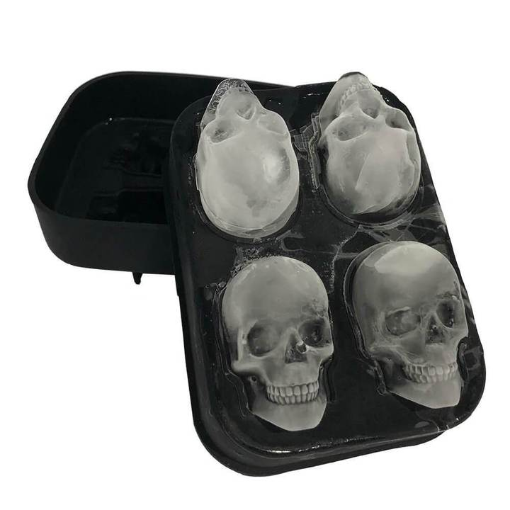 Flexible Silicone 3D Skull Ice Cube Mold