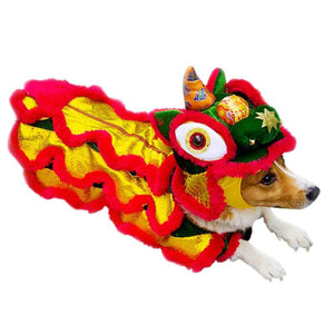 Lion Dance Pet Clothes