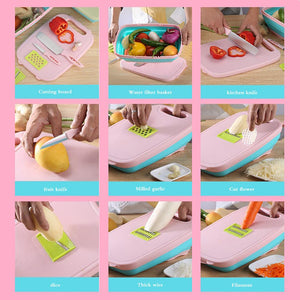 9 In 1 Cutting Chopping Board-2 Lots Get Freeshipping