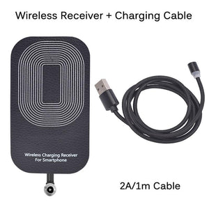 Qi Wireless Charging Receiver & Wired Fast Charging Cable