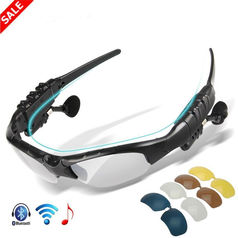 Wireless Bluetooth 5.0 Headset Sunglasses with 5 Lens