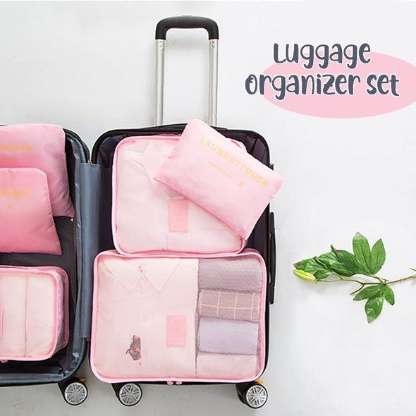 Luggage Packing Organizer Set (6pc) - The Pink Mingo