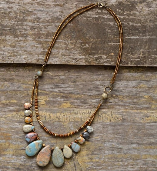 Stability Natural Stone Necklace