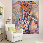 Mandala Good Luck Royal Elephant Tapestry