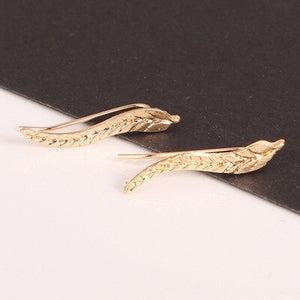 Boho Leaf Gold or Sliver Earrings