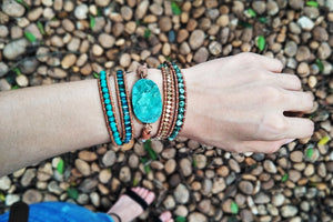 Claming Amazonite Bracelets - Vanillya Spiritual Jewelry