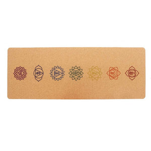 5MM Natural Cork TPE Non-slip Yoga Mat