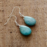 Unique Teardrop Amazonite Earrings