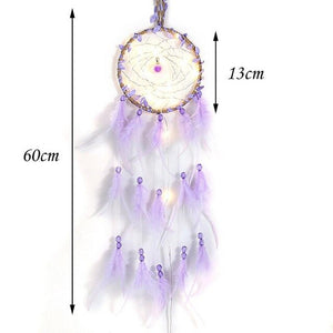 Lights-Up Feathers Dream Catcher