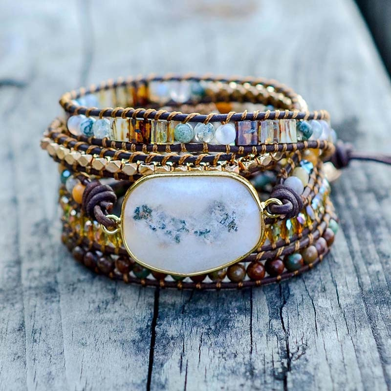 Agate MOONLIGHT Wrap Bracelet